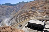 stock photo of porphyry  - Mining Equipment Maintenance Shop at Bingham Kennecott Copper Mine - JPG