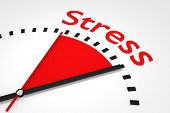 Clock With Red Seconds Hand Area Stress Illustration