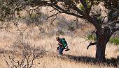 Teen Backpacking Through Grasslands