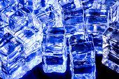 Photo of blue fake ice