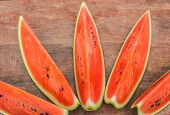 red Watermelon  on old wood