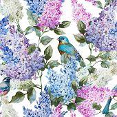 Постер, плакат: Lilac pattern