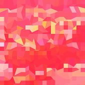 Orange Abstract Low Polygon Background