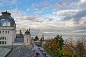 Rainbow Over Lac Leman In  Evian-les-bains In France In The New Year In Winter