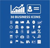 30 business, finance, presentation, infographics concept - flat isolated icons, signs, illustrations set, vector
