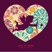 Vector abstract decorative circles shooting cupid silhouette frame pattern invitation greeting card