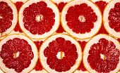 Background Of The Many Grapefruit Slices