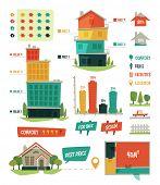 Real estate. Infographic elements. Vector illustration.