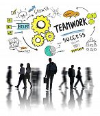 Teamwork Team Together Collaboration Business Commuter Travel Concept