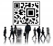 QR Code Marketing Identity Concept
