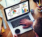 Planning Ideas Data Goals Office Online Working Concept
