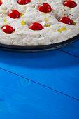 Uncooked Pizza Focaccia Bread