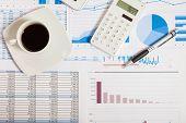 foto of analysis  - Financial data analysis concept - JPG