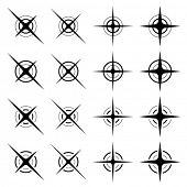 vector sparkles black symbols