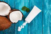 Coconut in body care cosmetics.