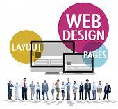 Web Design Content Creative Website Responsive Concept