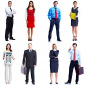 Business people set isolated over white background