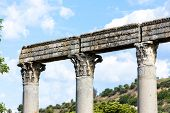 close up of Roman Temple, Riez, Provence-Alpes-Cote d'Azur, France