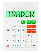 Calculator With Trader On Display