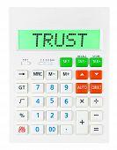 Calculator With Trust