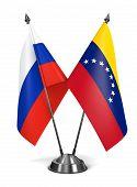 Russia and Venezuela - Miniature Flags.