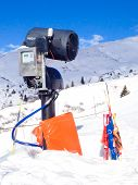 Modern snow canon  in European Alps