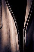 Open Jacket Zipper Pull Detail
