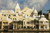Condo development along the shores of Hamilton Harbour, Bermuda.