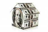 Money House Isolated On White