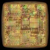 pic of microprocessor  - 3D image concept of an expansion of the microchip - JPG
