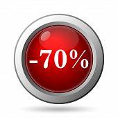 70 Percent Discount Icon