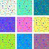 Set of starry seamless textures