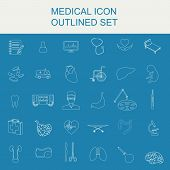 Medical and healthcare icon set