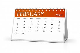 image of february  - An image of a table calendar for your events February 2016 - JPG