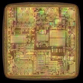 picture of microchips  - 3D image concept of an expansion of the microchip - JPG