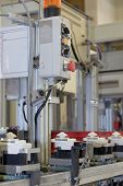 stock photo of assembly line  - Assembly line for the production of plastic components - JPG