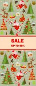 stock photo of winterberry  - Label for xmas sale - JPG