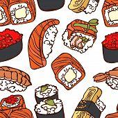 stock photo of sushi  - Japanese cuisine - JPG