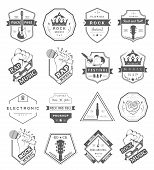 Постер, плакат: Set Of Vector Badges Music