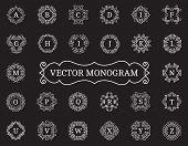 image of monogram  - Elegant vector monogram collection - JPG