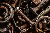 foto of hand tools  - old and rusty hand tool - JPG