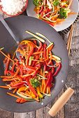 pic of chinese wok  - fried vegetable with wok - JPG