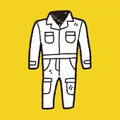 image of overalls  - Overalls Doodle - JPG