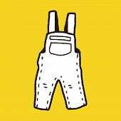 picture of overalls  - Overalls Doodle - JPG