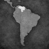 Постер, плакат: Map Of South America Venezuela