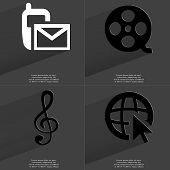 pic of clefs  - SMS icon Videotape Clef Web icon with cursor - JPG