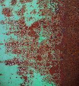 stock photo of oxidation  - Oxidized metal surface making an abstract texture - JPG