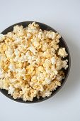 pic of flavor  - A large bowl of popcorn with butter flavor for movie tonight - JPG
