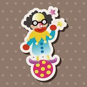 image of circus clown  - Circus Clown Theme Element - JPG