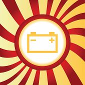 picture of accumulative  - Yellow icon with image of accumulator - JPG